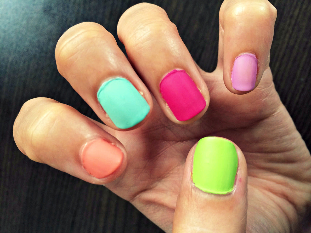 Summer Inspired Matte Nails