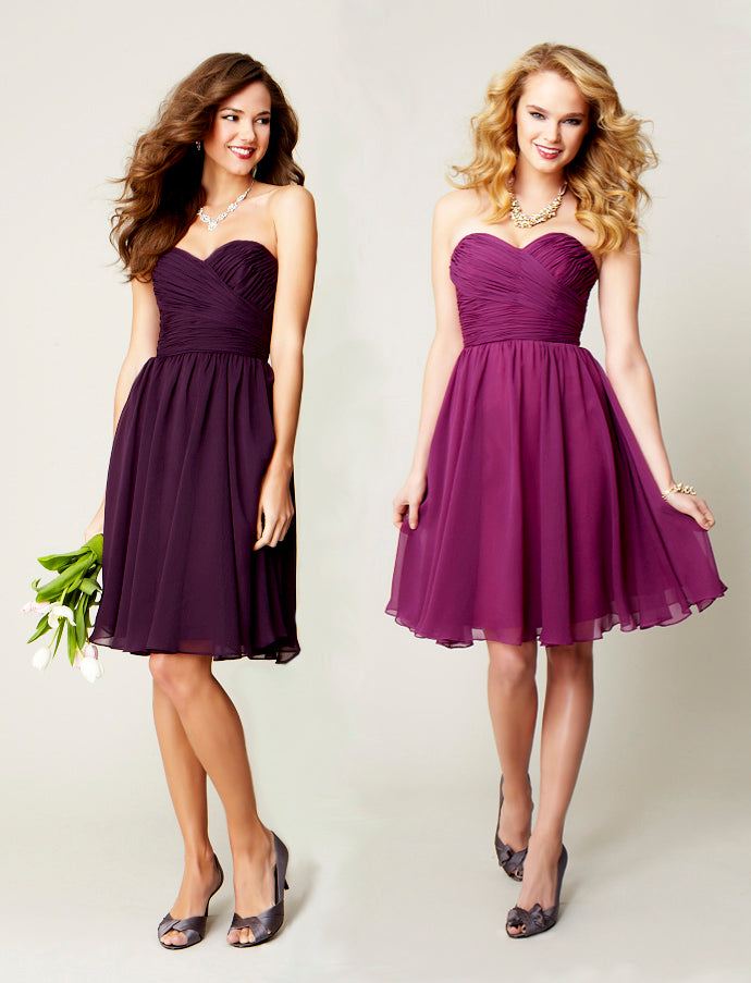 Kennedy Blue Purple Chiffon Bridesmaid Dresses