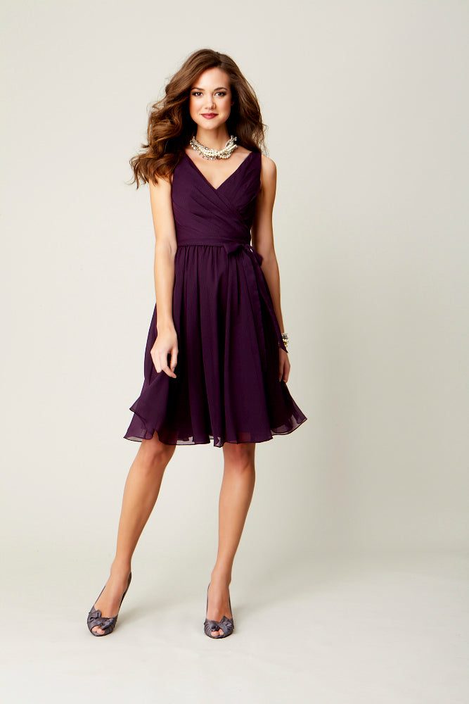 Chloe | Favorite Purple Chiffon Bridesmaid Dresses