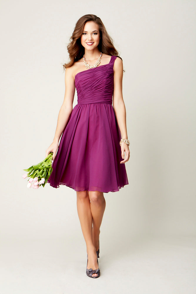 Megan | Purple Chiffon Bridesmaid Dresses