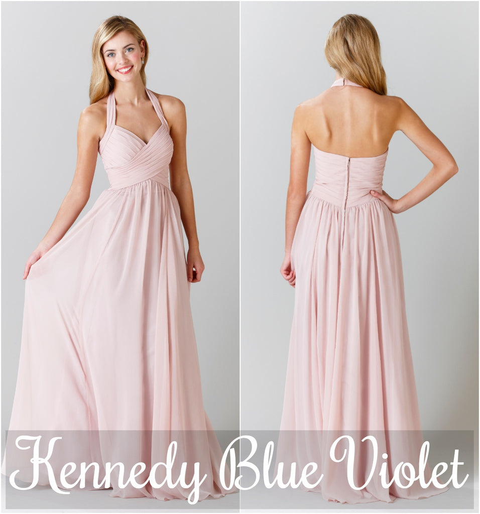 This sweet, halter, chiffon bridesmaid dress is a flattering style for any figure! | 5 Most Romantic Bridesmaid Dresses