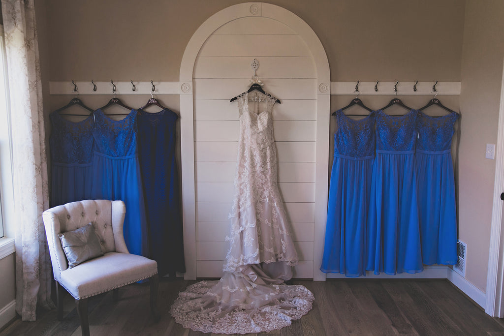 Kennedy Blue Embroidered Lace Bridesmaid dresses
