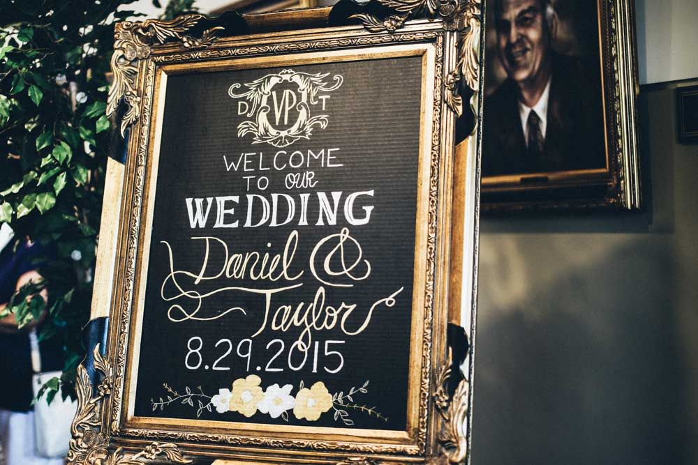 Frame signs, table numbers, photos, etc. for a chic and affordable way to spruce up your wedding decor!