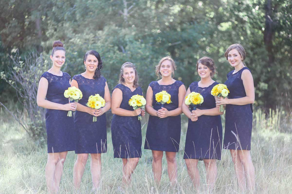 Rustic Chic Short Lace Bridesmaid Dresses