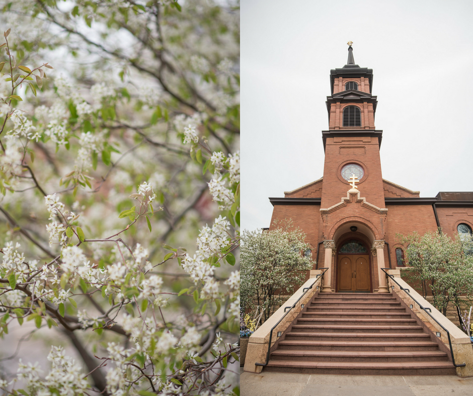 church wedding, spring