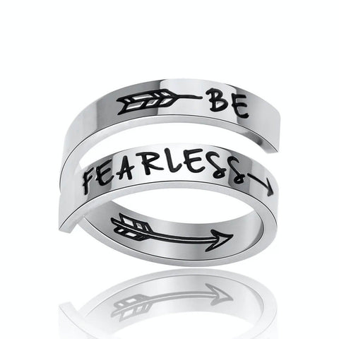silver engraved initial ring - OurCoordinates
