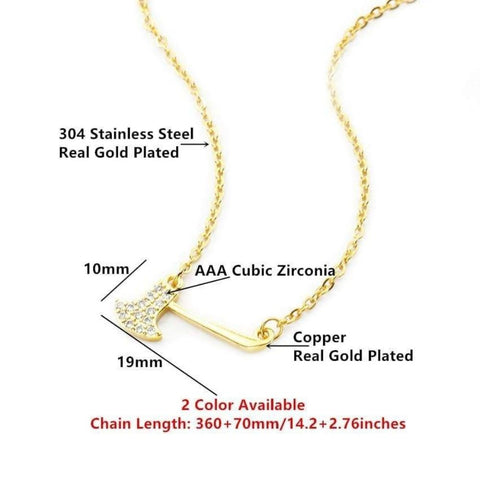 gold viking axe necklace - OurCoordinates