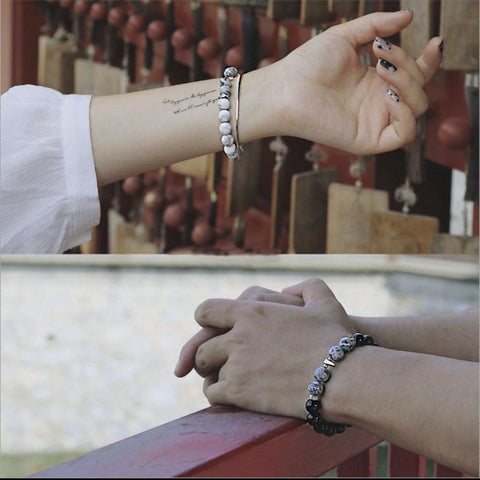 magnetic bead bracelets for couples - OurCoordinates