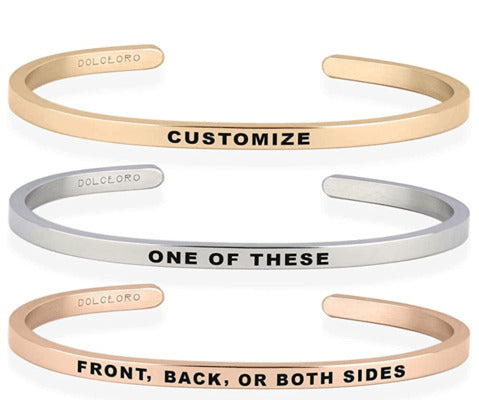 Dolceoro bracelets with coordinates -  OurCoordinates blog