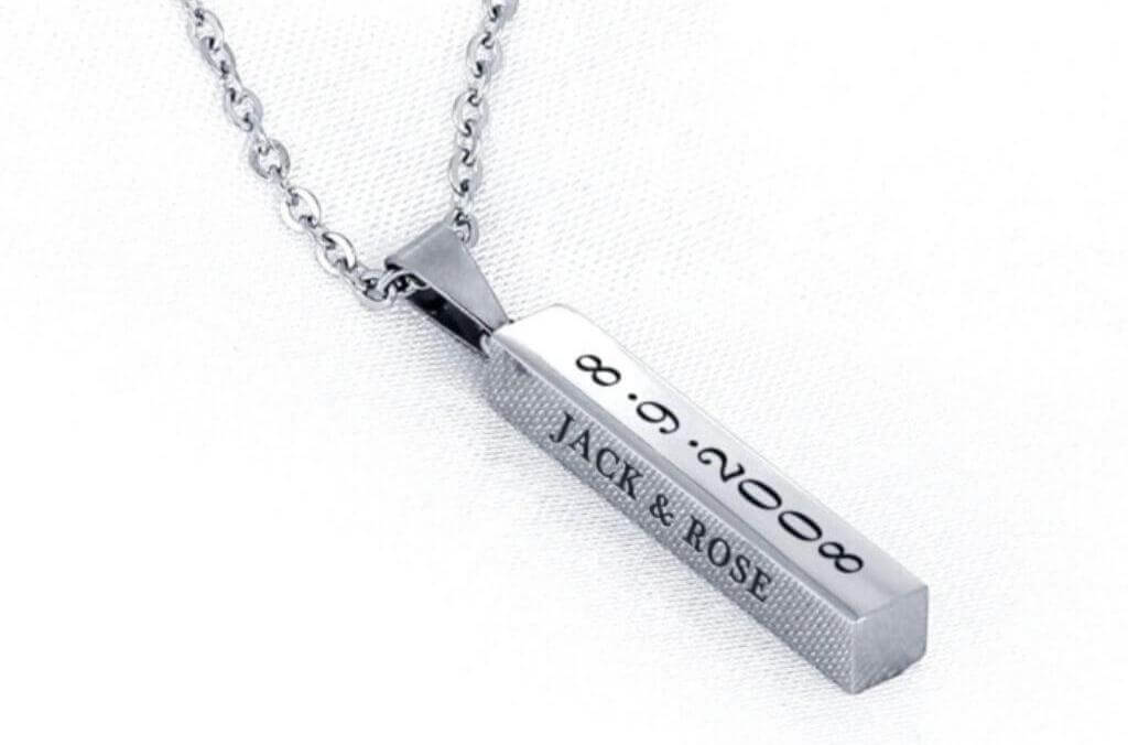 engraved necklace from OurCoordinates