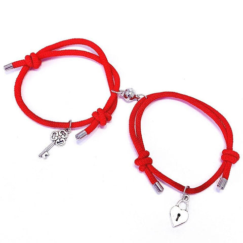 Lock and key magnetic couples bracelets - OurCoordinates