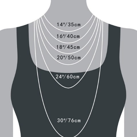 custom bar necklace sizing guide - OurCoordinates