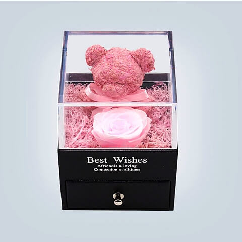 eternal love rose bear valentines day gift - OurCoordinates