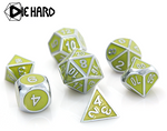 Silver Titanite (Gemstone Collection) - Die Hard Metal Dice Set