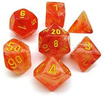 Ghostly Glow orange/yellow Polyhedral 7-die set