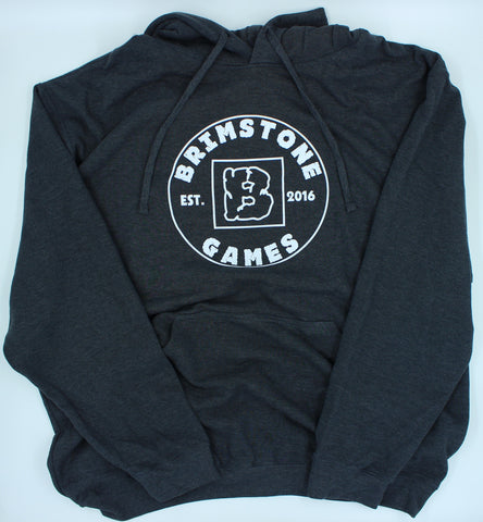 Brimstone Logo Hoodie - Dark Grey with White