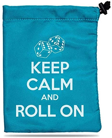 Keep Calm and Roll On Dice Bag