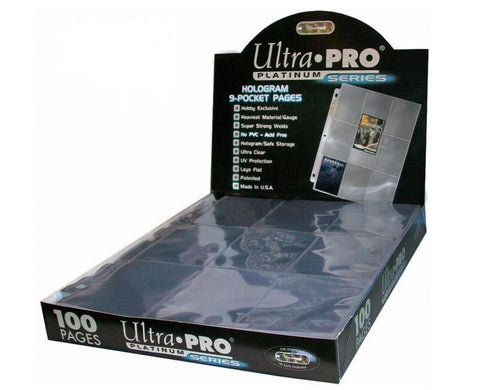 Ultra Pro Platinum 9 pocket pages