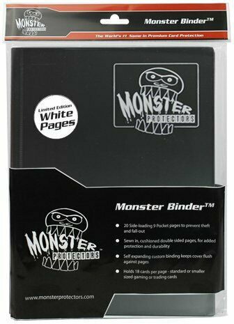 Monster Binder - 9 Pocket Black (with white pages)