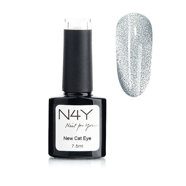 Gel Polish Cat Eye Silver