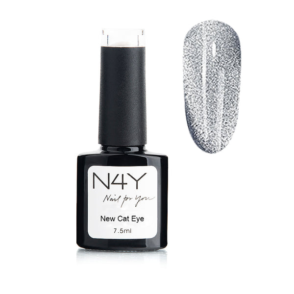 Gel Polish Cat Eye Black silver