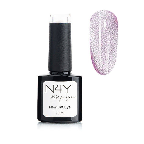 Gel Polish Cat Eye Light Purple
