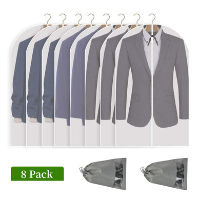 2x Suit Travel Bags Garment Bag Dress Jacket Storage for Hanging Clothes Cover