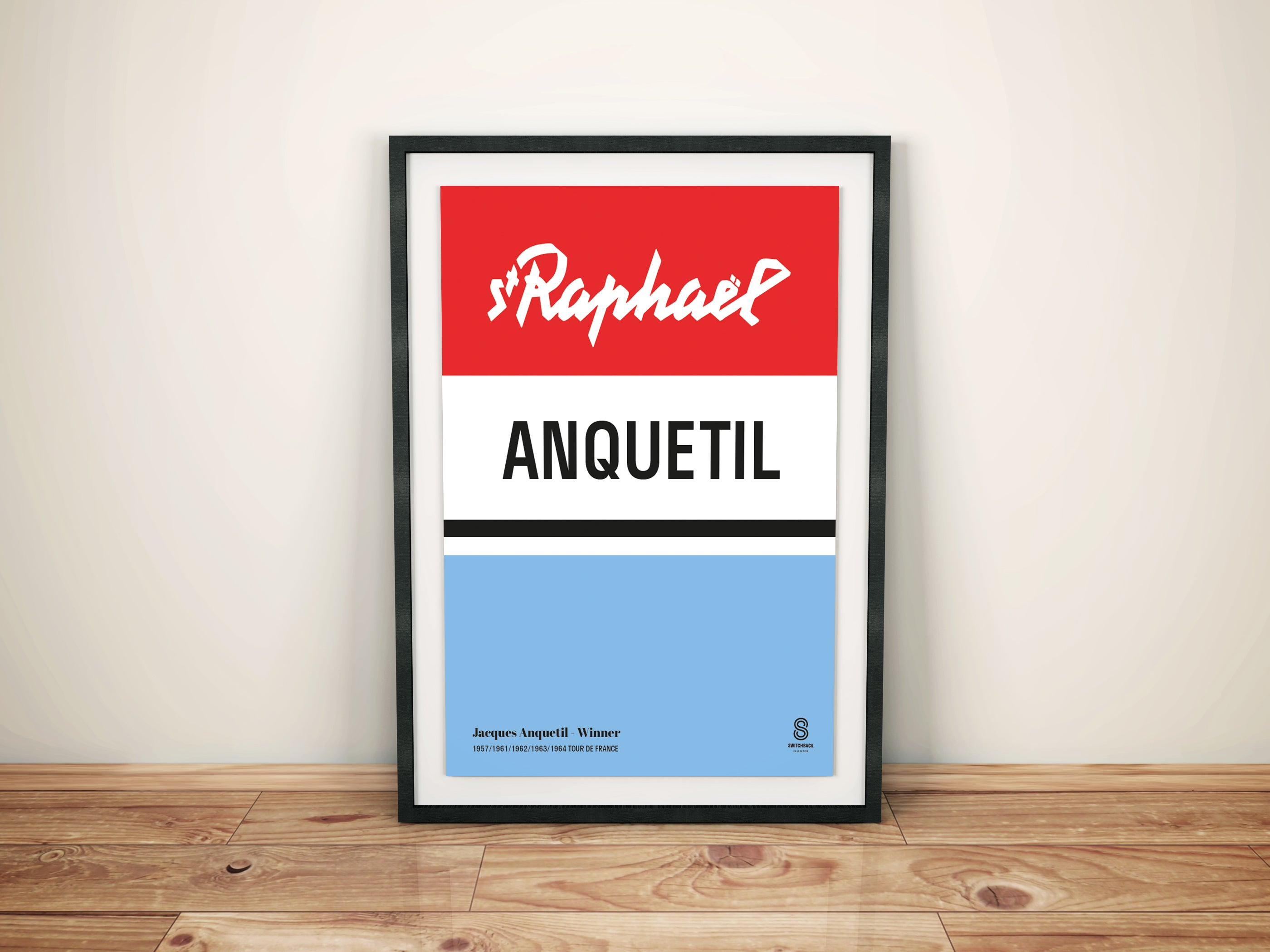 Jacques Anquetil St Raphael - Vintage cycling team print