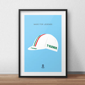 7 Eleven Cycling Cap - Made For Legends Print