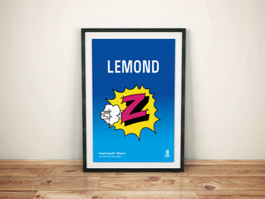 Greg Lemond Z Team print - Vintage cycling team print