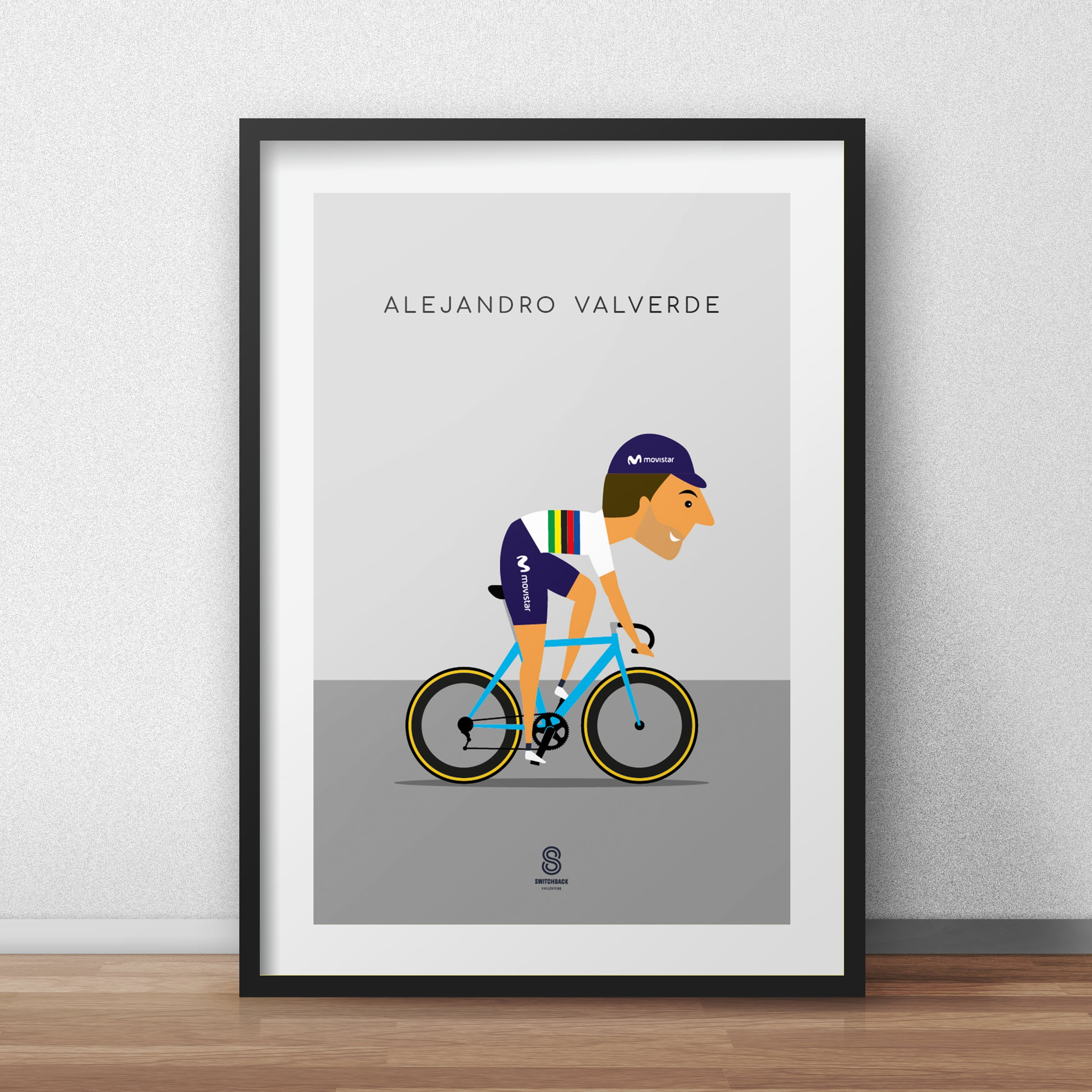 Alejandro Valverde - Movistar World Champion Print