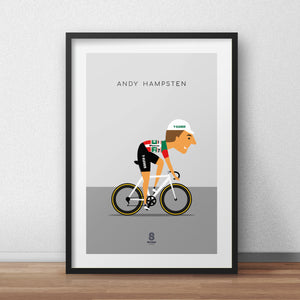 Andy Hampsten - 7 Eleven Cycling Print