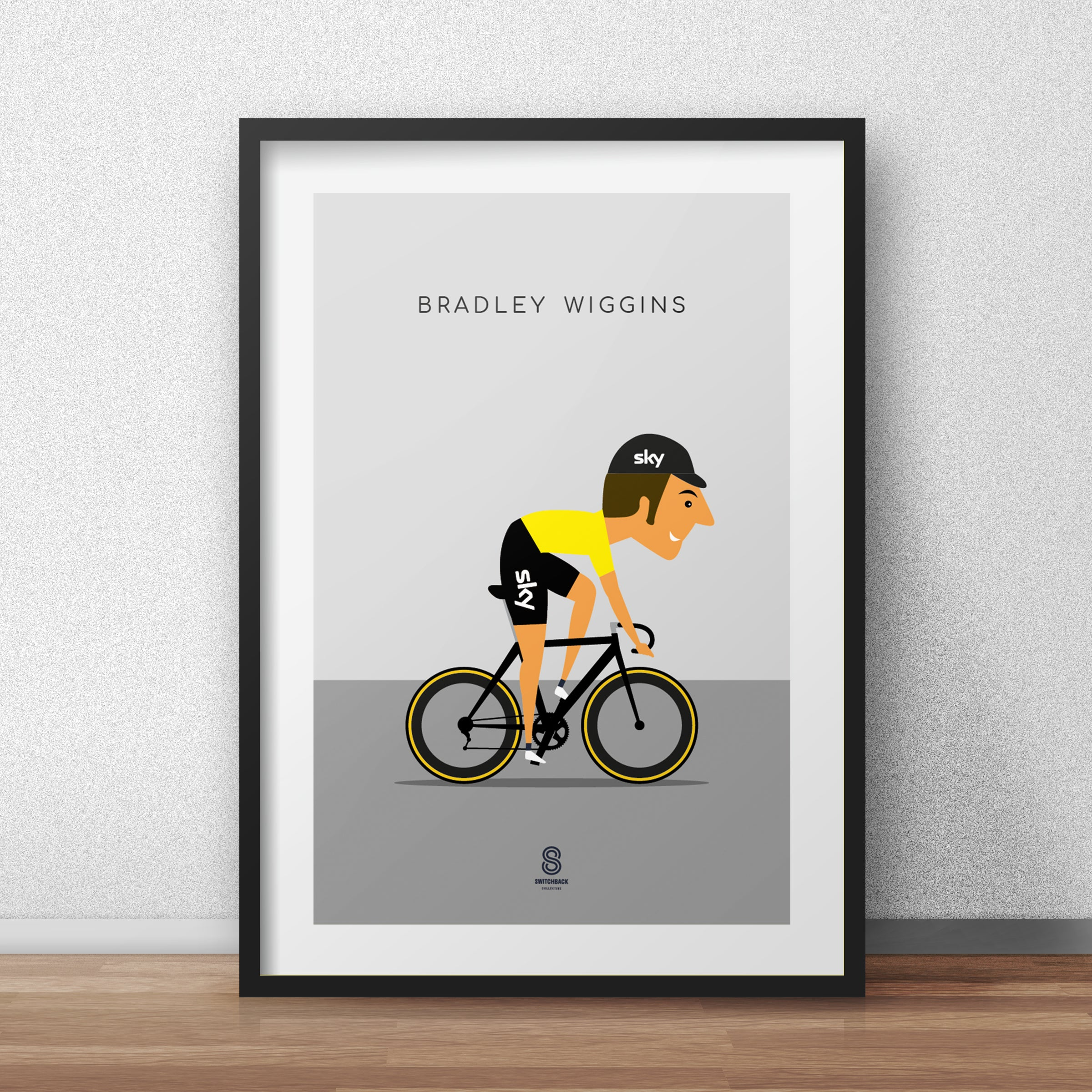 Bradley Wiggins - Team Sky Yellow Jersey Print