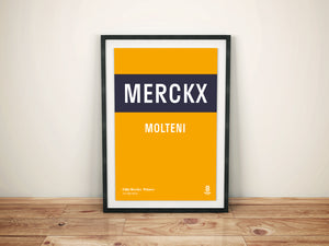 Eddy Merckx Molteni - Vintage cycling team print