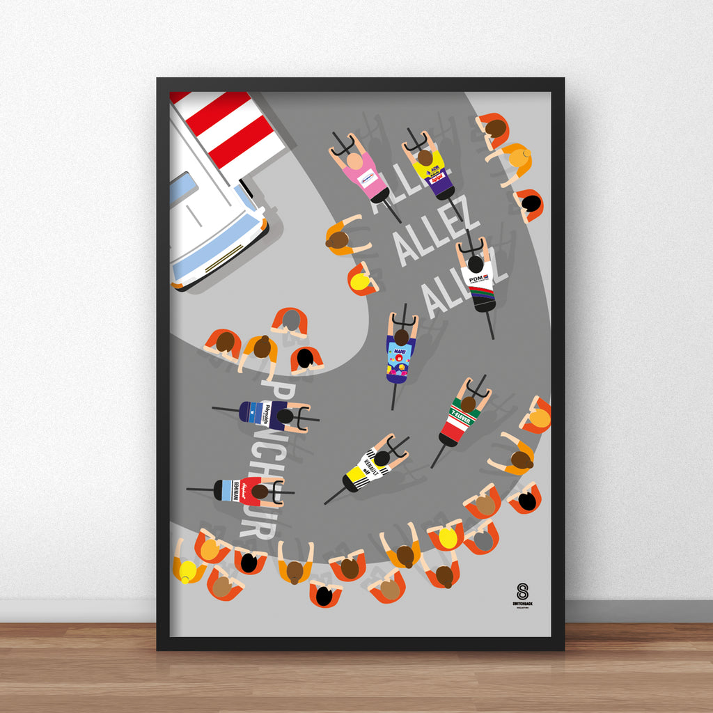 Dutch Corner - Tour De France Cycling Print