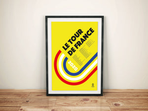 Tour De France Print 2020 - Cycling Print