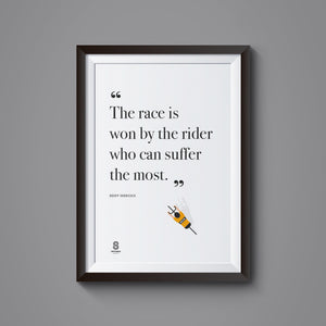 Eddy Merckx Quote - Print