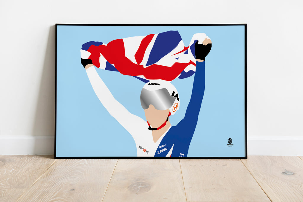 Elinor Barker 'Becomes World Champion - Team GB Print
