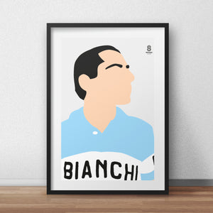Coppi, Anquetil, Merckx and Simpson Portrait - set of 4 The Early Days Print