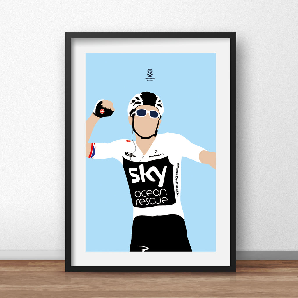Geraint Thomas 'Taking Yellow' - Le Tour Print