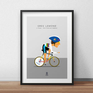 Greg Lemond Z Team - 1990 Tour De France Print