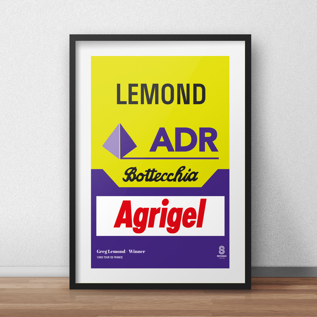 Greg Lemond ADR 89 - Vintage cycling team print