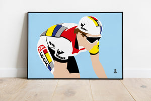 Greg Lemond La Vie Claire Wonder - Retro Print