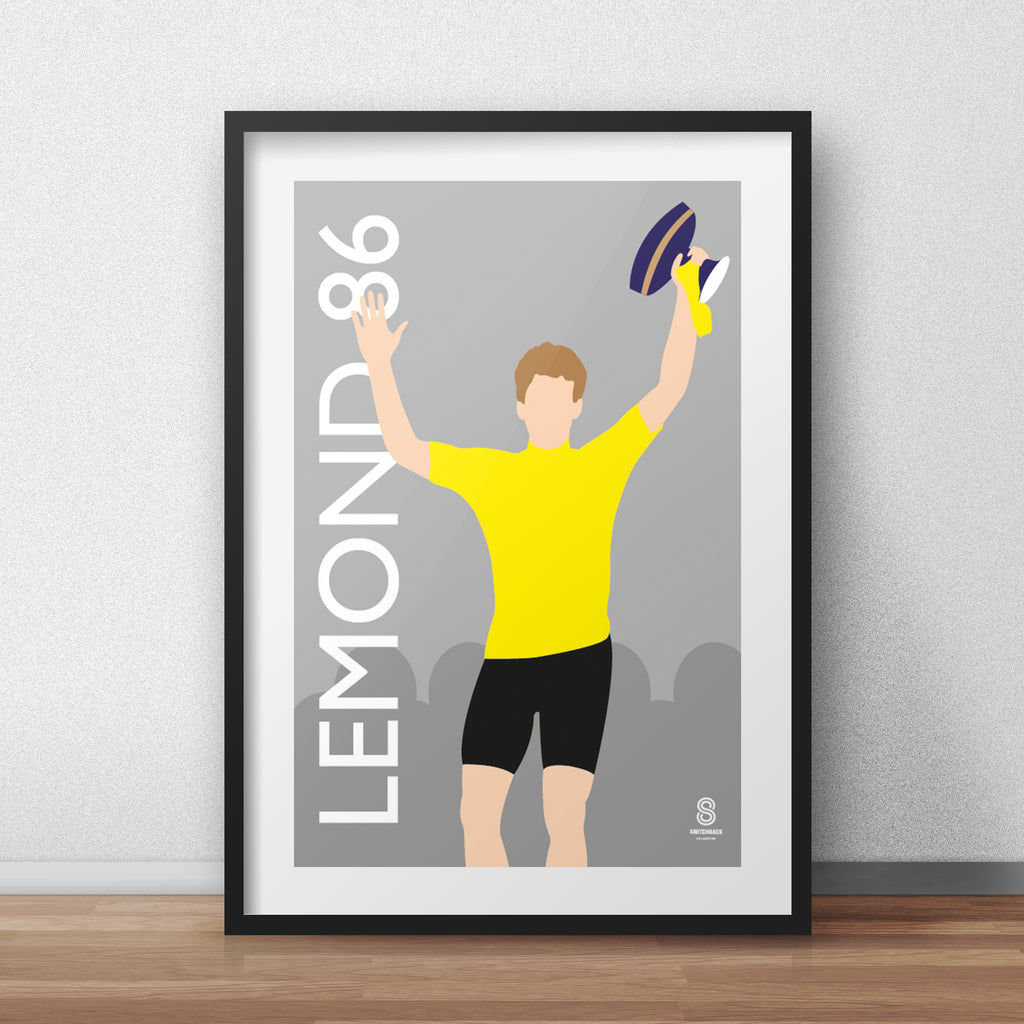 Greg Lemond 1986 Podium Finish Print