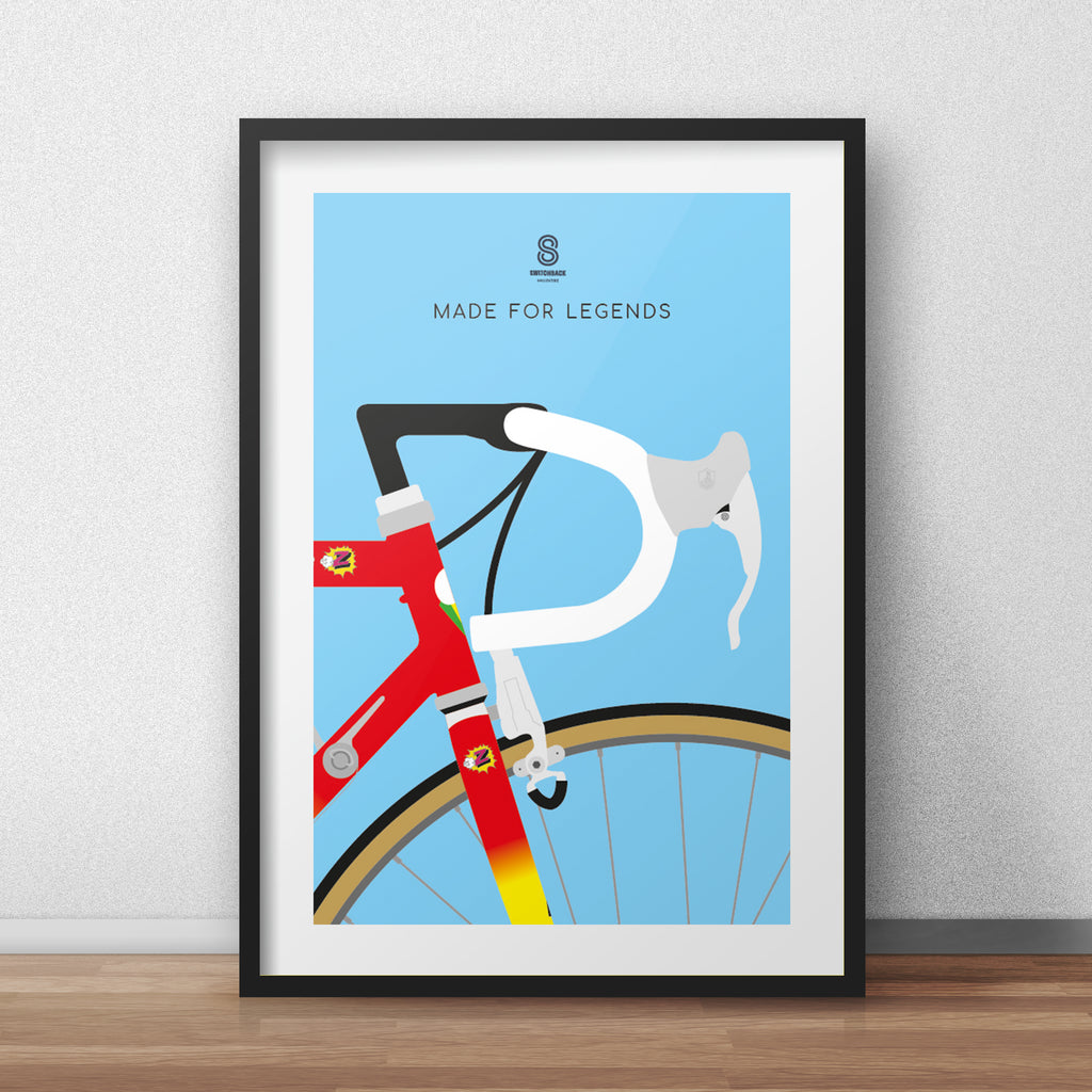Greg LeMond Bike -  Made For Legends Cycling Print