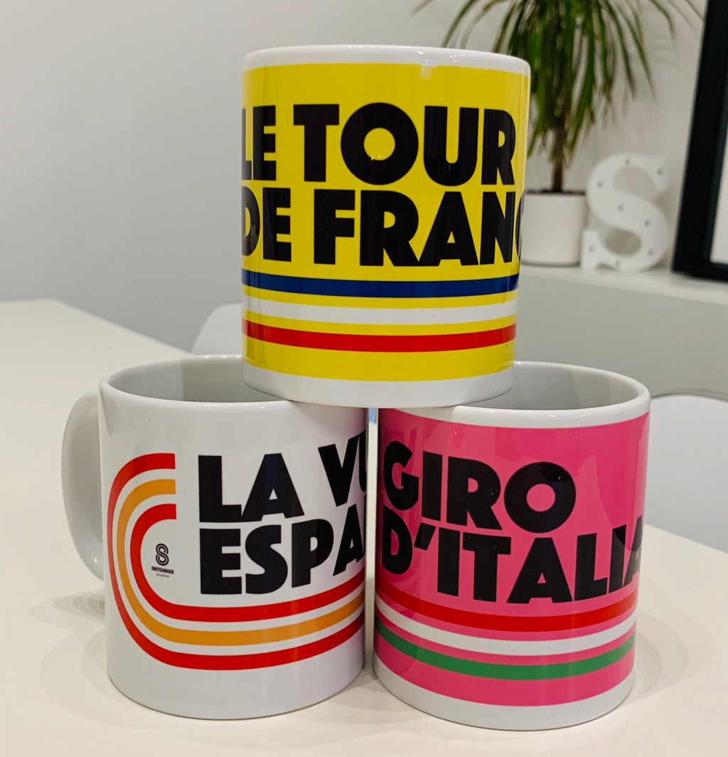Grand Tour Cycling Mugs (Set of 3)