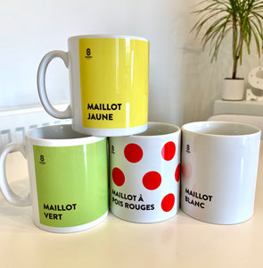 Tour De France Jersey Mugs (Set of 4)