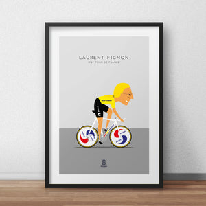 Laurent Fignon Super U - 1989 Tour De France Print