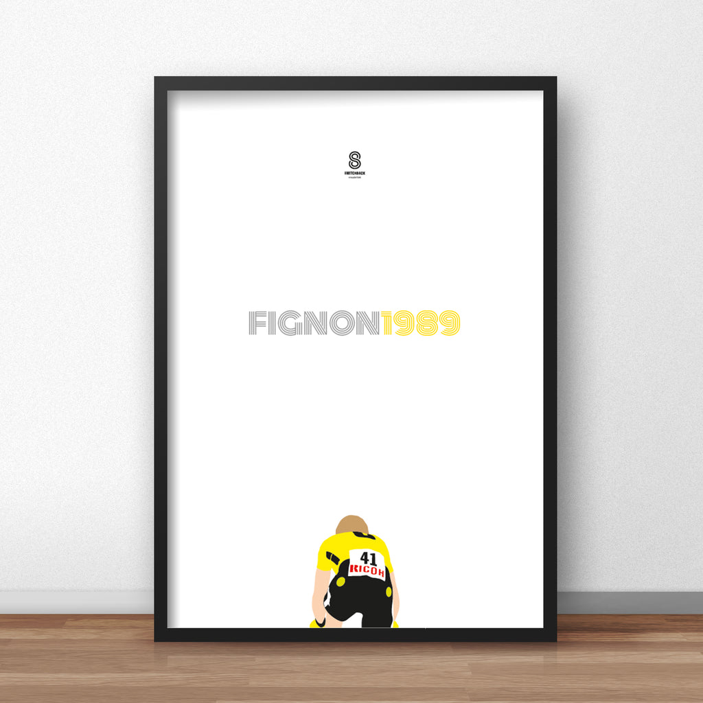 Laurent Fignon 1989 TT - Cycling Print