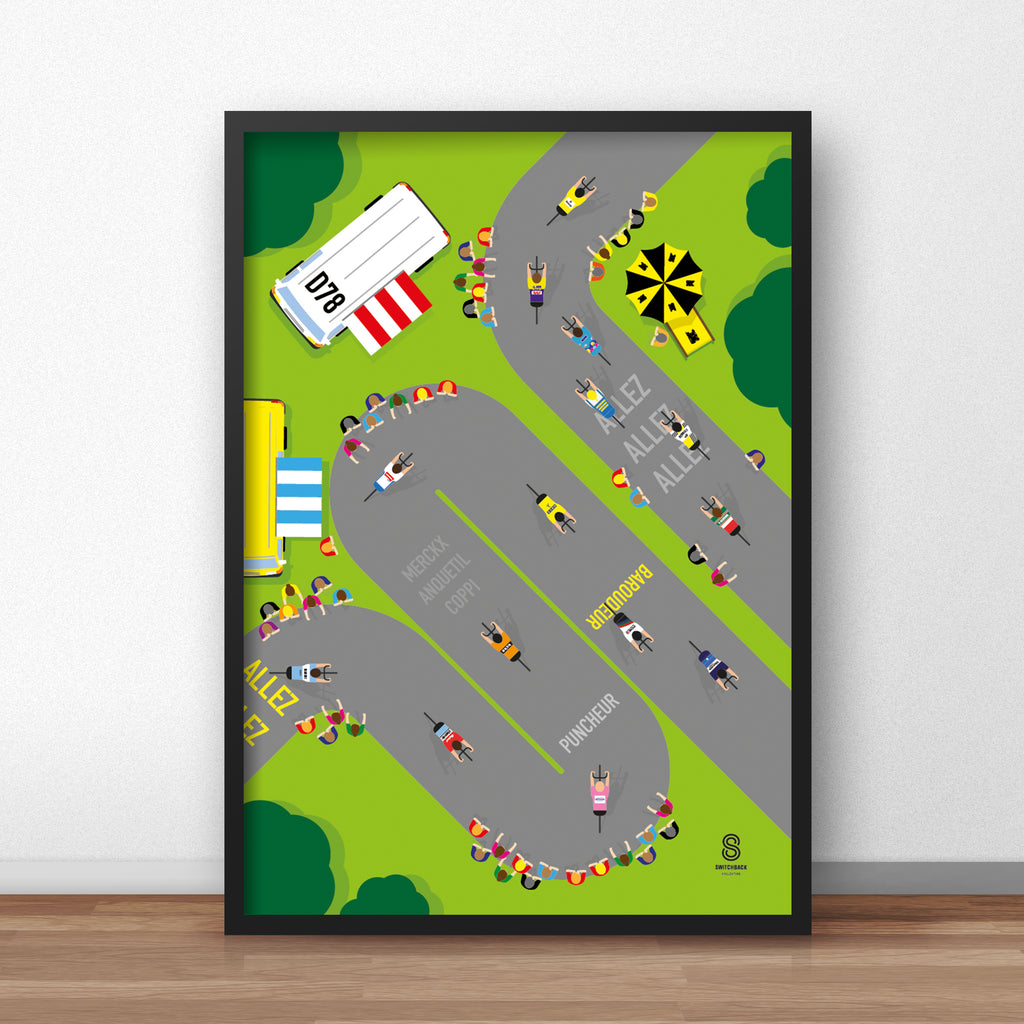 Legends of the Cols - Tour De France Cycling Print